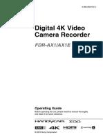 Sony FDR AX1_E Pro