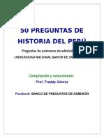 50Preguntas-Peru Antiguo en San Marcos