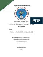 Informe Visita a Planta de agua potable