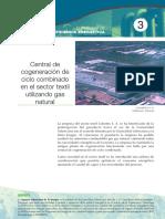 Central de Cogeneración Con Ciclo Combinado en El Sector Textil.