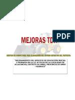 MEJORAS CENTROS  AMBOINICIAL