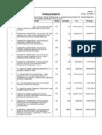 Presupuesto banco de transformadores Dic 2017