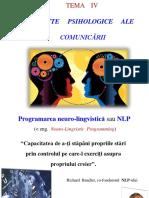 TEMA IV. Programarea Neuro-lingvistică Ppt