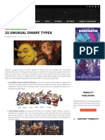 22 Unusual Dwarf Types