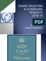 2018-19 scheduling grade 9