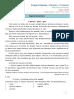 2014 8ano 3bim Gramatica