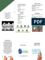 Triptico Diabetes