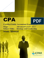 Cpa a1.1 - Strategy & Leadership - Study Manual