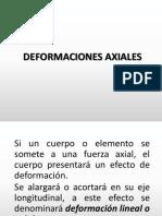 DEFORMACIONES AXIALES