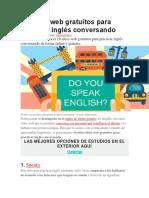10 Sitios Web Gratuitos Para Practicar Inglés Conversando