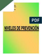Niveles de Prevención 2012