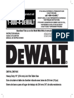 Dewalt DW744X Manual