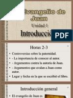 El Evangelio Según San Juan UNIDAD 1