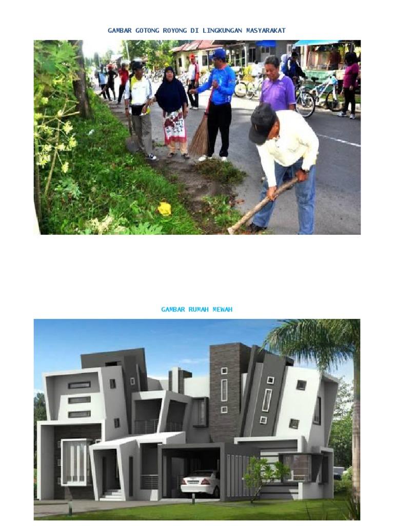 Gambar Gotong Royong Di Lingkungan Masyarakat