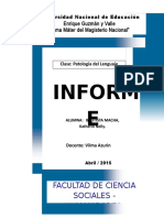 Informe de Patología- Una Mente Brillante - Pelicula
