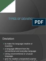 types of deviation-