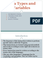 datatypes and variables