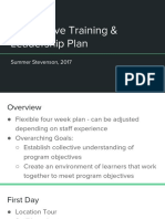 interpretive training   leadership plan  first days of school alt