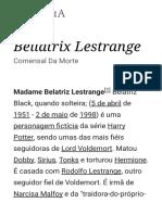 Bellatrix Lestrange – Wikipédia, A Enciclopédia Livre