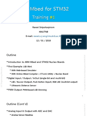 ARM Mbed for STM32 Training #1 (2018-01-12) | Computer Engineering