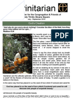 July 2010 Trinitarian Newsletter, Holy Trinity Sloane Square