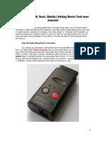 VW-Audi Airbag Reset Tool User Manual