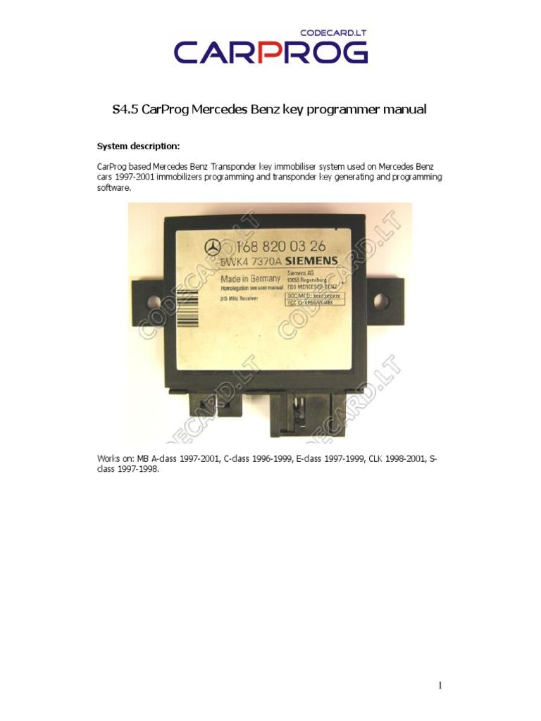 Carprog Mb Key Programmer Manual 1