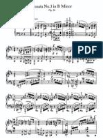 Piano Sonata No 3 in b, Op 58