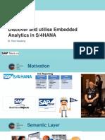 SAUG Melbourne Plenary 2017 Embedded Analytics