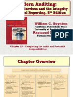 Ch19 Modern Auditing 8e Boynton 2006 Completing the Audit Post Audit Responsibilities