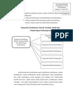 Resume 20 - Pengertian Pendekatan, Metode, Strategi, Model Dan Teknik Dalam Pembelajaran - Purwaning Rohmah
