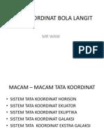 Mr Waw Tata Koordinat Bola Langit
