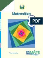 Libro de Texto matematica 8° Primer trimestre