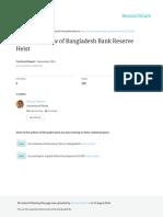 An Forensic View of Bangladesh Bank Reserve Heist