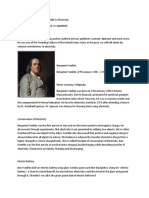 Contribution of Benjamin Franklin to Electricity