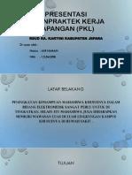 Presentasi UjianPraktek Kerja Lapangan (PKL)