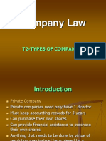 T2-Types of Companies