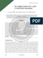 Review on Fabrication of 3 Axis Spray Painting Machine Ijariie1981