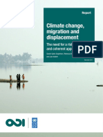 Climate Change, Migration Displacement
