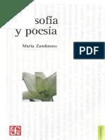 Zambrano María - Filosofía y poesía.pdf
