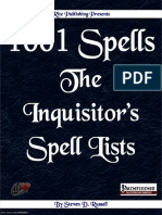 1001 Spells Inquistiors Spell Lists (PFRPG) Free Preview