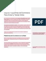 Articulo Mejores Plataformas de Ecommerce Para Armar Tu Tienda Online