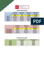 Calendar Delf Dalf 2017