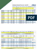 ASUS Notebook AIO Desktop Pricelist -Nov 17