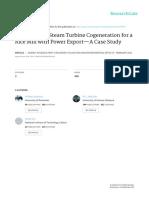 Husk-Fueled Steam Turbine Cogeneration