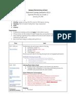 plc agenda 1-29-18