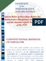 PNP Admin Disciplinary System (MC 2007-001)