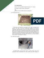 Types of Sub-surface Exploration