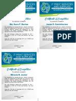 JT Certificate