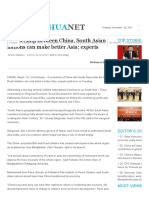 Partnership Between China, South Asian Nations Can Make Better Asia_ Experts - Xinhua _ English.news